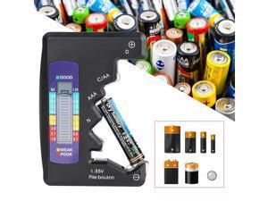 Digital Battery Tester, Universal Battery Tester, AA, AAA, N, C, D, 9V, 1.5V, Voltage Tester