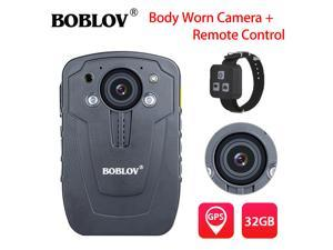 "HD 1296P 32GB 2.0"" Body Worn Camera GPS Recorder Night Vision Security Guard Camcorder  + Remote Control"