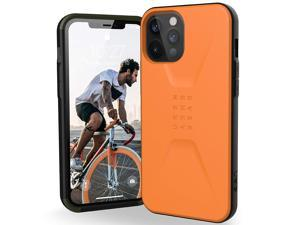 UAG Designed for iPhone 12 Pro Max Case [6.7-inch Screen] Sleek Ultra-Thin Shock-Absorbent Civilian Protective Cover, Orange
