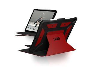 UAG iPad Pro 12.9-inch (5th Gen, 2021) Case Metropolis Rugged Heavy Duty Protective Cover Multi-Angle Viewing Folio Stand with Pencil Holder, Magma