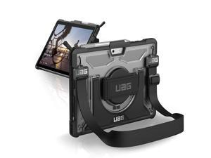 UAG Microsoft Surface Go with Hand Strap & Shoulder Strap Plasma Feather-Light Rugged [Ice] Military Drop Tested Case