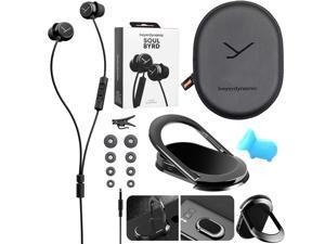 BeyerDynamic Soul BYRD Earbud Headphones iOS Android Headset + Phone Ring Mount & Stand Kit