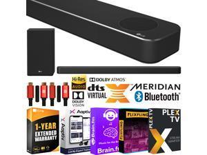 LG SN8YG Sound Bar w/ Meridian, Dolby Atmos, DTS:X 3.1.2ch Surround Sound Bundle