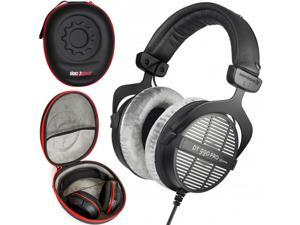 BeyerDynamic DT 990 PRO Studio Headphones for Mixing Mastering (Open) Over Ear Headset + Case