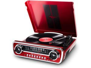 Ion Audio Mustang LP 4-in-1 Classic Car-Styles Music Center (Red) - (MUSTANGLPRED)