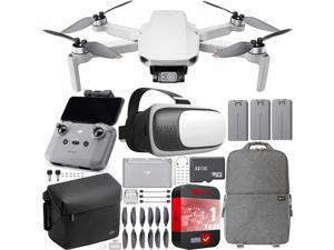 DJI Mini 2 Drone 4K Video Quadcopter Fly More Combo + Backpack & FPV Headset Bundle