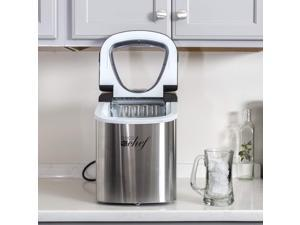 Deco Gear Rapid Electric Party Ice Maker - Compact Top Load 26 Lbs. Per Day Capacity - Great For Hosting Never Run Out Of Ice Again (Stainless Steel)