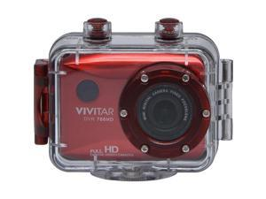 Vivitar DVR786HD-RED 12.1 MP Full HD Waterproof Action Camera - Red