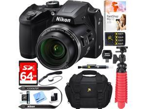 Nikon COOLPIX B500 16MP 40x Optical Zoom Wi-Fi Digital Camera (Black) + 64GB Bundle