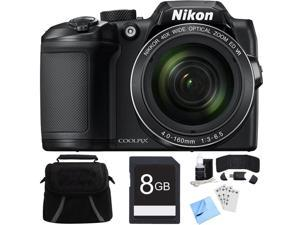 Nikon COOLPIX B500 16MP 40x Optical Zoom Digital Camera w/ Built-in Wi-Fi 8GB Bundle