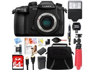 Panasonic LUMIX GH5 Digital Camera w/ WiFi (Body) + 64GB Flash Memory Bundle