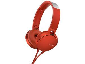 Sony MDRXB550AP/R - EXTRA BASS, On-ear, Wired  Headphone - Red