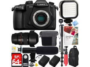 Panasonic LUMIX GH5 4K Mirrorless Digital Camera Body + 14mm f/2.8 Lens Bundle