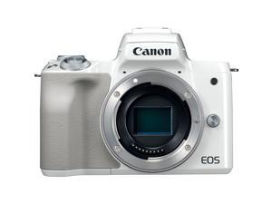 Canon EOS M50 Mirrorless Digital Camera (White) with 15-45mm Lens