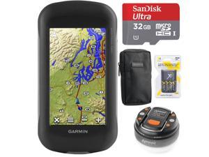 Garmin Montana 680t Handheld GPS - 010-01534-11 with 32GB Ultimate Travel Bundle