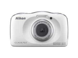 Nikon COOLPIX W150 13.2MP Waterproof Point & Shoot Digital Camera (White) 26530