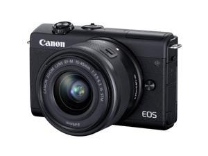 Canon EOS M200 24.2MP Mirrorless Digital Camera with EF-M 15-45mm IS STM Lens (Black)