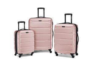 """Samsonite Omni 3 Piece Hardside Luggage Nested Spinner Set (20""""/24""""/28"""") Pink"""