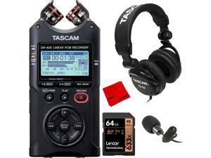 Tascam DR40X Portable Digital Recorder & USB Audio Interface w/ TH-02 Headphones Bundle