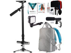 """Vivitar Professional 59"""" Photo/Video Stabilizer with Tripod Base and Deco Gear Bundle"""