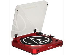 Audio-Technica Fully Automatic Bluetooth Wireless Belt-Drive Turntable (Red) - (AT LP60RDBT)