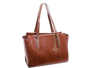 McKlein 97504 Aldora Leather Shoulder Tote Bag, Brown - 16 x 5.5 x 12 in.