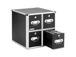 Ideastream Products IDEVZ01049 Vaultz CD Cabinet- 4-Drawer- 8-.50in.x15in.x14in.- 660 Cap