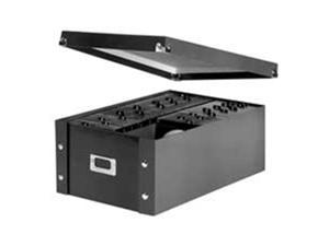 Ideastream Products IDESNS01658 Storage Box- CD- 10-.25in.x13-.75in.x6in.- 60 CDs- Leather Like- Black