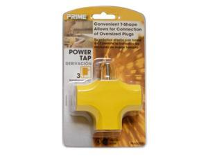 Prime PBAD0200 3 Outlet 90 Yellow Adapter