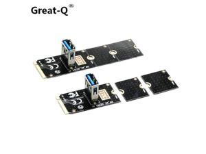 Great-Q  NGFF to PCI-E pci express Riser Card M.2  to PCIe Expansion Card Convertor USB 3.0 m2 Adapter mining for bitcoin Miner