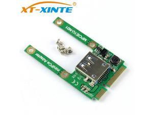 XT-XINTE Mini PCI-E Card Slot Expansion to USB 2.0 Interface Adapter Riser Card MPCIE to USB Convertor Extension Card mpci-e