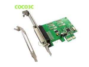 MosChip MCS9901 PCI-e 1 Parallel IEEE 1284 Controller card PCI express to DB25 printer LPT port Expension adapter
