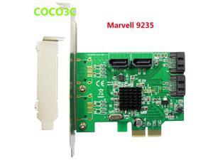 Marvell 9235 chipset Quad Ports SATA 3.0 PCI-e Controller , SATA III  Port Multiplier PCI Express card
