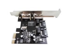 WBTUO LT107 2 SATA 3.0 & 2 ESATA 3.0 2 Ports PCI-E Express Card Adapter Expansion Card Q00429