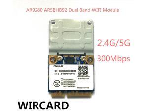 Atheros AR9280 AR5BHB92 Dual-Band 2.4GHz and 5GHz 802.11a/b/g/n 300Mbp Wireless wifi mini pci-e Card