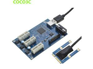 Mini PCIe 1 to 3 PCI express 1X slots Riser Card Expansion adapter Mini ATX Laptop to PCI-e Port Multiplier