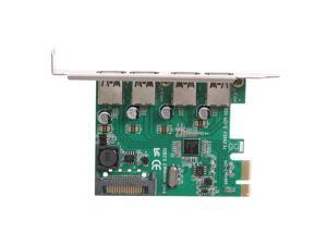 VAKIND PCI-E Expansion Post Card 4 Ports USB 3.0 PCI Express Card 5Gbps Compatible for Windows XP/7/8/8.1/10 with Optical Disc
