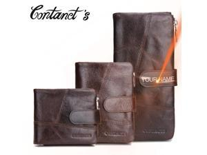 6e8794a7d177 Contact s Casual Men Clutch Wallet Genuine Leather Male Purse And Handbags  Luxury Brand Black Zipper Coin