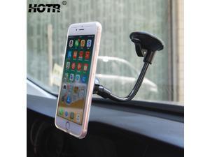 HOTR Magnetic Car Phone Holder Magnet Windshield Car Holder Stand Mount Display Universal Flexible Tube Car Phone Holder