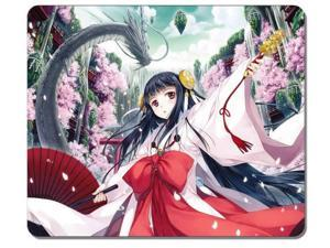 0eafcc268f75c Customized Mousepad Anime Girls Cherry Blossom Dragon Miko Japanese Clothes  Gaming ...