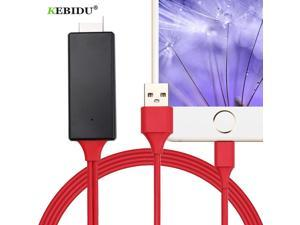 Kebidu HDMI Cable Micro USB to HDMI For Lightning Adapter Converter Cable AV HD TV for IOS for iPhone iPad for MHL Android Phone