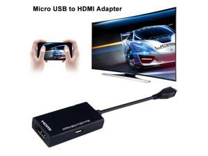 Micro USB to HDMI HD Adapter cable Male to Female High Speed HDTV Adapter Converter Cable Audio Cables for TV Phone Computer