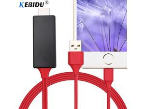 Kebidu HDMI Cable For Lightning Micro USB to HDMI Adapter Converter Cable AV HD TV for IOS for iPhone iPad for MHL Android Phone