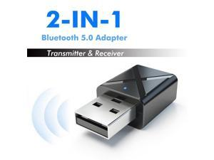 Ostart 2 in 1 Bluetooth 5.0 Transmitter Receiver 3.5mm Aux A2DP, AVRCP Wireless Stereo Audio Adapter for PC TV/Headphones
