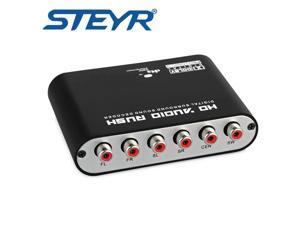 STEYR Digital 5.1 audio decoder SPDIF Coaxial Stereo to RCA DTS AC3 digital to 5.1 Analog DAC 5.1 Converter for PS3 Xbox DVD