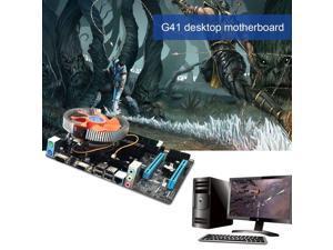 G41 Desktop Main Board LGA771 Quad-core E5430 Set 2.66G CPU + 4G Memory + Fan (Not included manual)