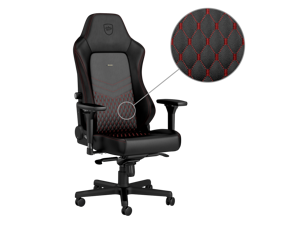 noblechairs HERO Real Leather Series Gaming Chair Black/Red