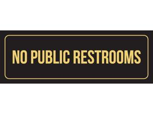2 Pack 3x9 Inch iCandy Combat Black Background with Gold Font Open Door Slowly Business Retail Outdoor /& Indoor Plastic Wall Sign