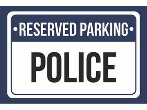 12x18 6 Pack of Signs White and Black Notice Parking Metal Large Sign Reserved Parking Vice Principal Print Blue