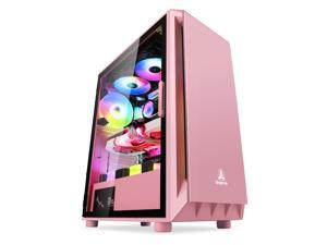 Segotep GANK 5 ATX Micro-ATX, MINI-ITX Mid Case USB3.0 Port, 1.0mm SPCC Steel Plate, Support Liquid Cooling, Gaming Case